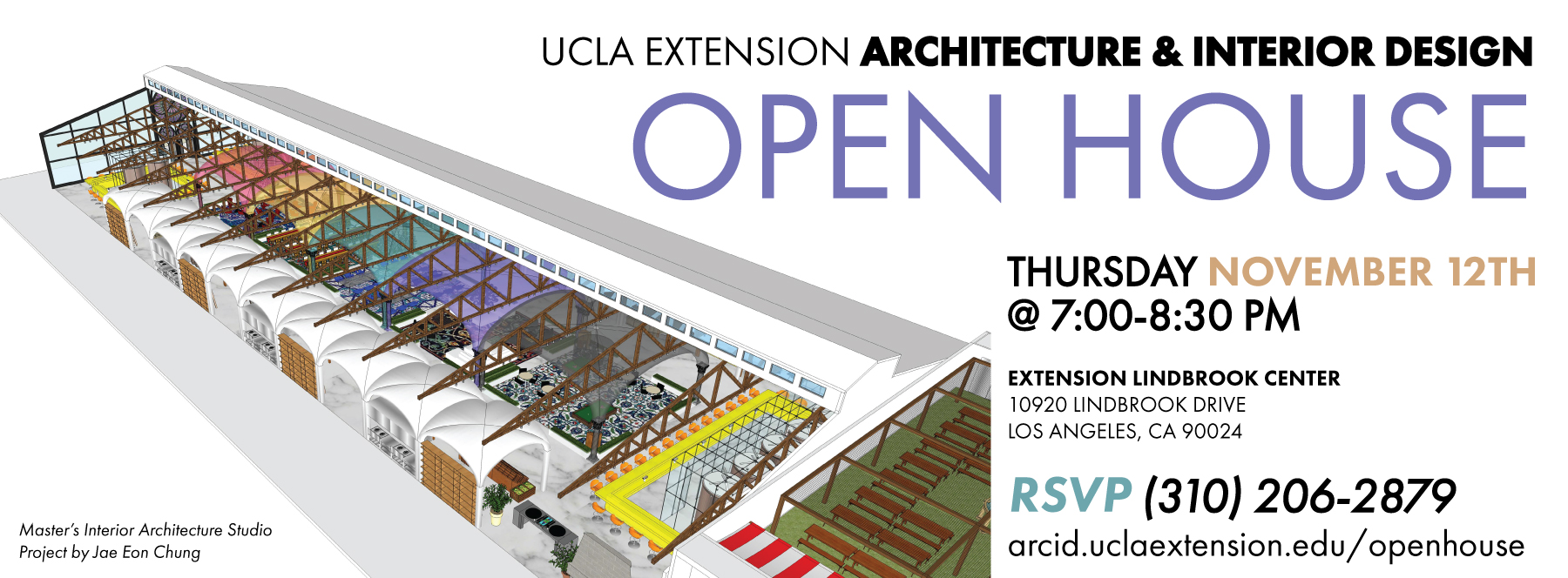 Get ready for the ucla extension arc id information session architecture interior design for Master of interior architecture ucla