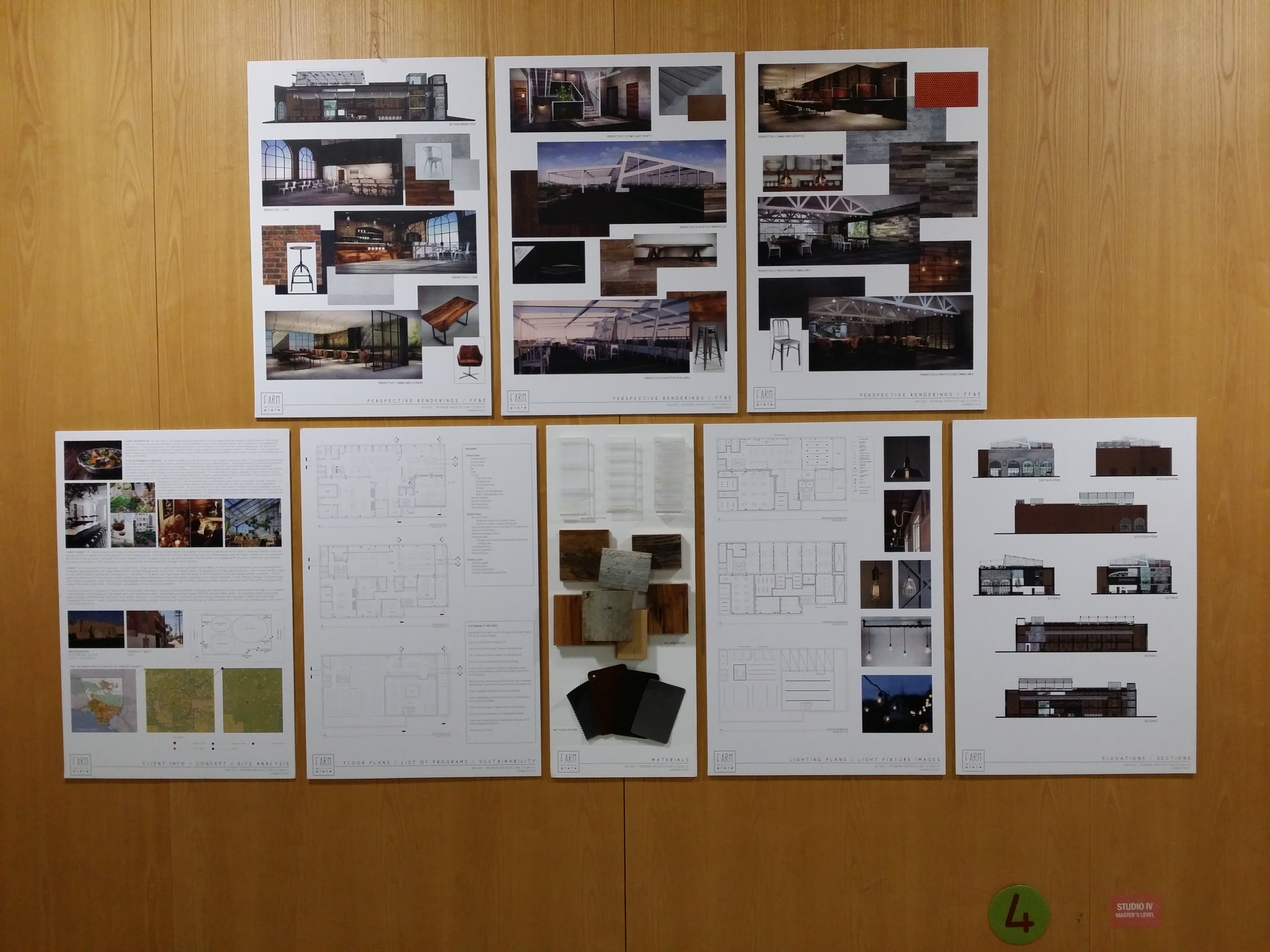 CIDA Accreditation Review Student Projects On Display at 1010