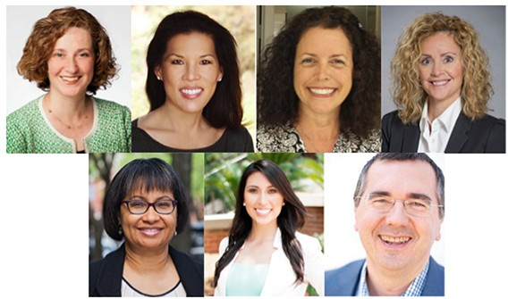 The 2016 Board of Directors: Sandy Gordon, Charrisse Johnston, Sarah W. Colandro, Teresa Sowell, Denise Rush, Melanie Murata, and Eddy Schmitt; Images courtesy of ASID