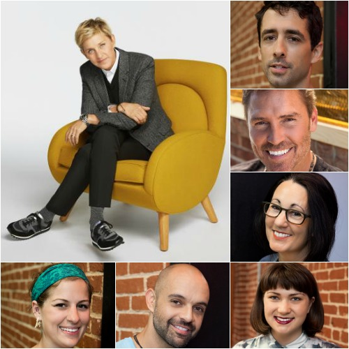Competitors on the HGTV reality show Ellen's Design Challenge