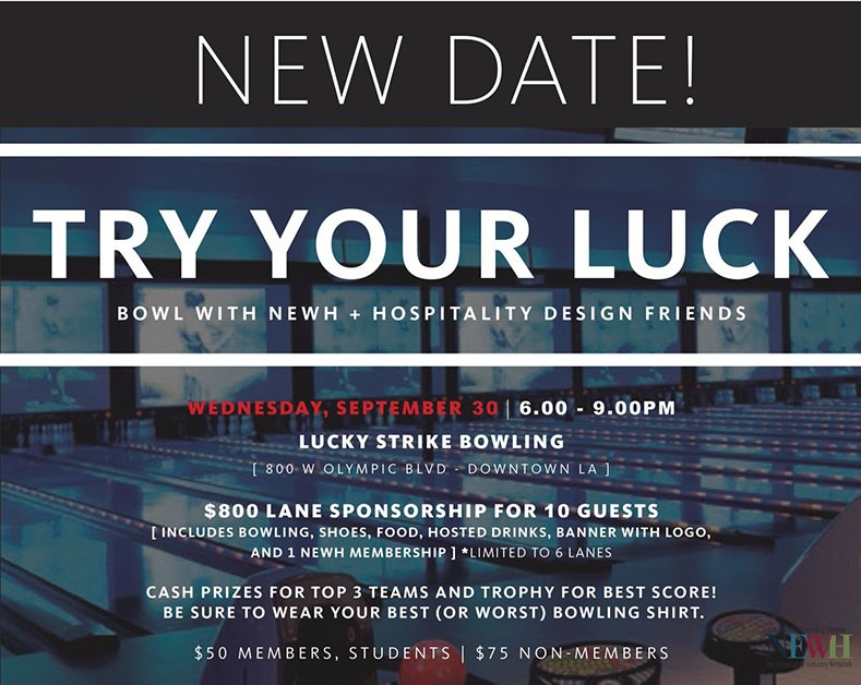 Join NEWH Los Angeles Founding Chapter for a Bowling Event and Membership Drive - September 24th!