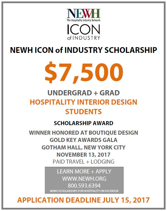 Newh Icon Of Industry 7 500 Scholarship Award Architecture Interior Design