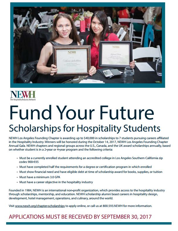 Newh Scholarships For Hospitality Students Architecture Interior Design