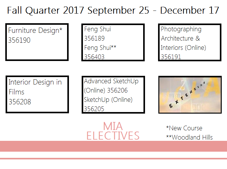 Fall Quarter 2017 Masters Of Interior Architecture Electives Architecture Interior Design