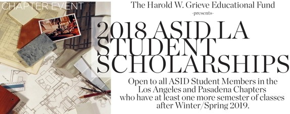 2018 Asid La Student Scholarships Winnings Have Increased Architecture Interior Design