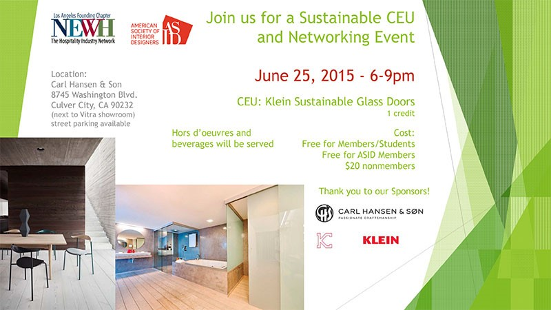 Sustainable CEU and Networking Event_2015
